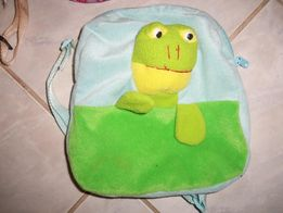 2 małe plecaki-Owieczka i Żółw (Żaba) + torebka dziewczęca.