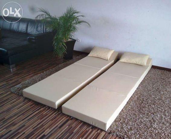 Materac składany rozkładany fotel sofa łóżko pufa Mosina - image 4