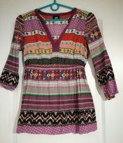 Piekna koszula w etniczne wzory, rozmiar 34
