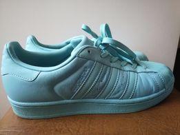 Продам кожаные ментоловые Adidas superstar р. 38