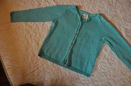 sweterek ZARA r.140 guziki niebieski