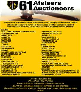 Farm implements Auction Winterton Kzn