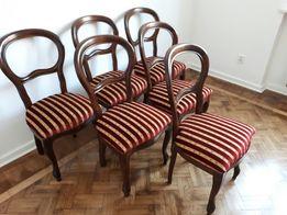 Stół z 6 krzesłami - antyki