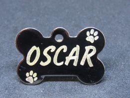 Жетон адресник для собак с гравировкой номера телефона