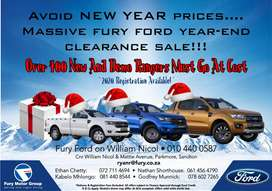 Ford Ranger Year End Clearance Sale
