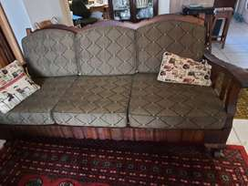 Antique embuia ball and claw lounge suite