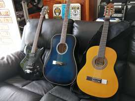 Various guitars