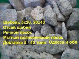 Щебень мелкий крупный на бетон дорогу вознесенский крупный мытый песок