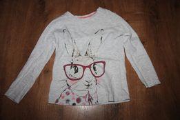 Bluzeczka z długim rękawem z królikiem. Rozmiar 110cm