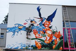 malowanie artystyczne na ścianach, malowanie dużych powierzchni