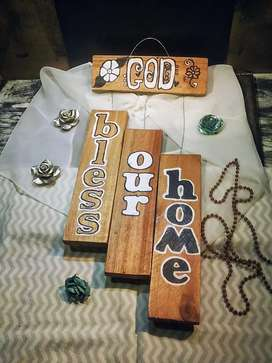 100% Hand made & painted (freehand) Wooden Decorative Board