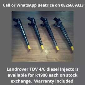 Landrover TDV 4 and 6 Injectors