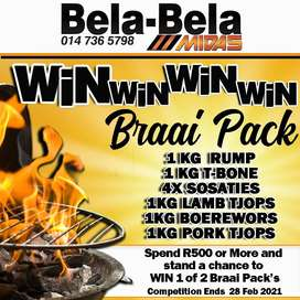 Spend R500 or more and stand a chance to WIN a Braai Pack!