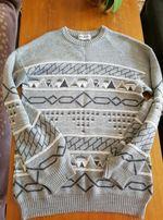 Jak NOWY WEŁNIANY sweter męski M L Zara Hugo boss lacoste massimo