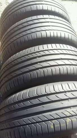 4 × 225 / 50 / 17 runflat continental tyres for sale