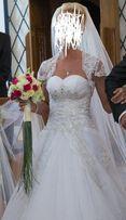 suknia ślubna + bolerko i 2 welony GRATIS