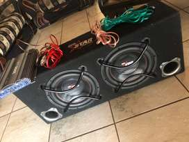 """Star sound subs 12"""" and 1000w amp"""