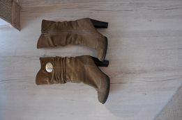 Зимние кожаные, замшевые сапоги, сапожки, ботинки.