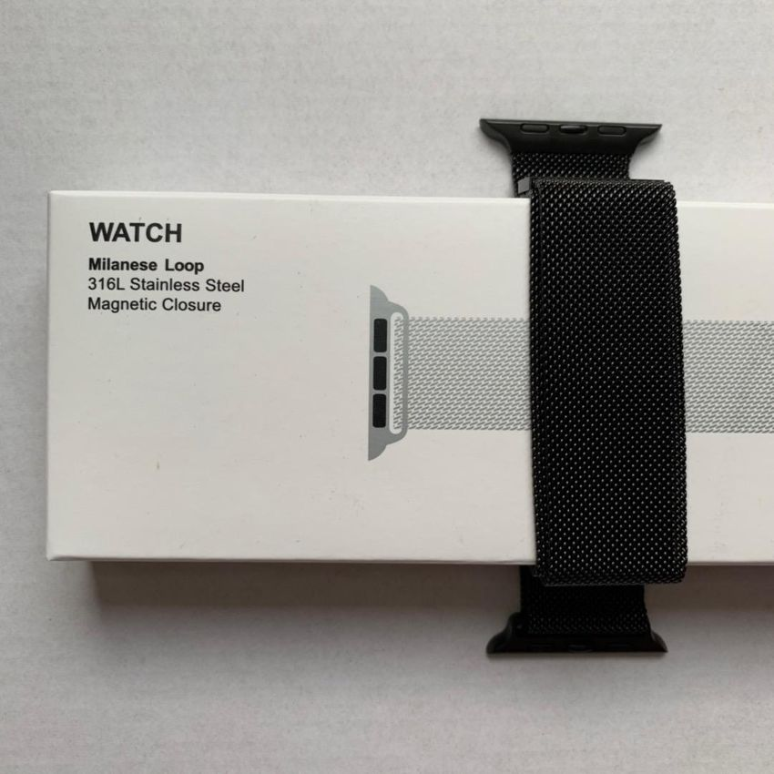 Milánský tah Black - černý řemínek pro Apple Watch 42/44mm 0