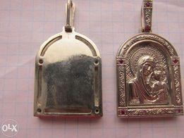 серебряные иконки на цепочку