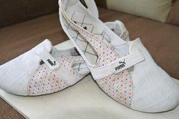buty pumy- białe