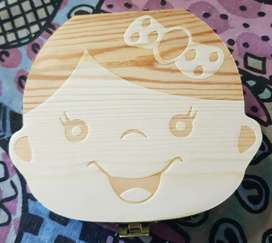Creative Wooden Storage Box Baby Child Teeth Box