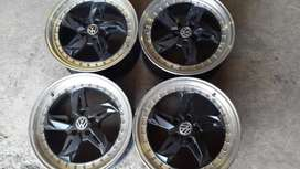 17 inch set of polo rims in good condition pcd 5/100