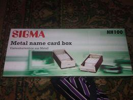 Продам ящик з металу для візитних карток новий,є 6 штук