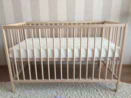 Кроватка IKEА + матрасик верес +защитный бортик + простынь на резинке