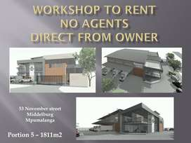 NEW WORKSHOP TO RENT
