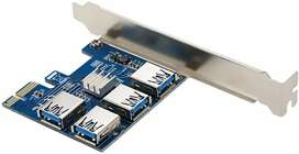 (looking for) Pcie adapter 4 in 1 riser pci express multi gpu mining