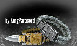 Браслет выживания c ножом из паракорда на подарок часы 15в1 компас