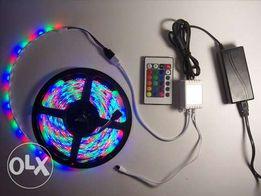 Светодиодная лента RGB 3528 ПОЛНЫЙ КОМПЛЕКТ 5м.