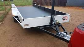 Car trailer double axle