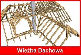 Więźba dachowa, kantowizna, krokwie, drewno na dach