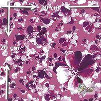 Materiał lub tapeta na zamówienie wzór: Ametystowy wzór kwiatowy