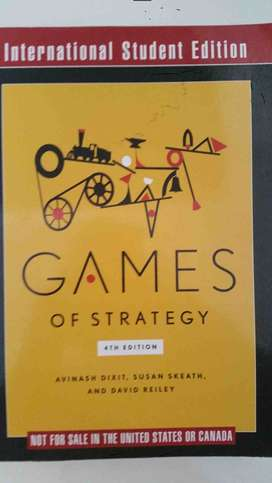 Games of strategy textbook for sale - 4th edition for sale