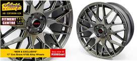 EVO 17 inch 4-100 PCD Alloy wheels, set of 4 tyres also available at u