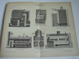 MASZYNY II 1878 r. - Produkcja oryginalne XIX w. grafiki