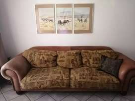 3 seater couch in moderate to good condition