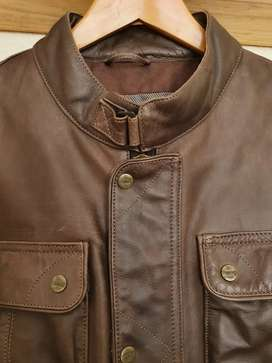 Two authentic leather Triumph motorcycle jackets