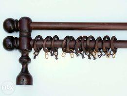20Карниз деревянный потолочный, двойной. длина 1,45 м.