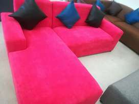 Corner couches for sale right at the factory shop for R2499.