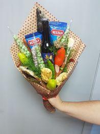 Новогодние букеты, Мужской букет, букет из фруктов