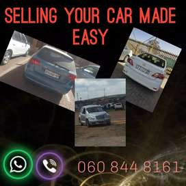 Selling your car made easy. Contact me