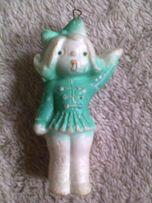 Новогодняя елочная игрушка девочка СССР