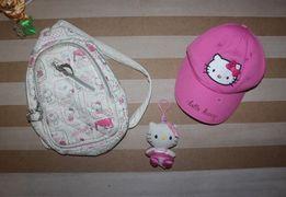 Рюкзак кепка и брелок Helloy Kitty