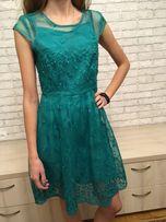 Платье нарядное вечернее зеленое