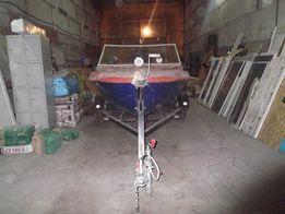 Лодка Крым М + мотор Меркури 30 + лафет