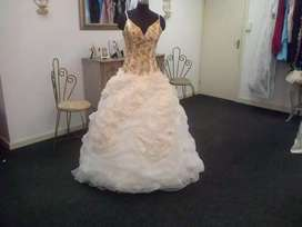 GOLD /CHAMPAGNE BALLGOWN FOR SALE